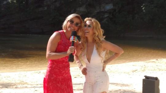Mônica Salgado mostra bastidores do novo clipe '18 quilates' de Joelma