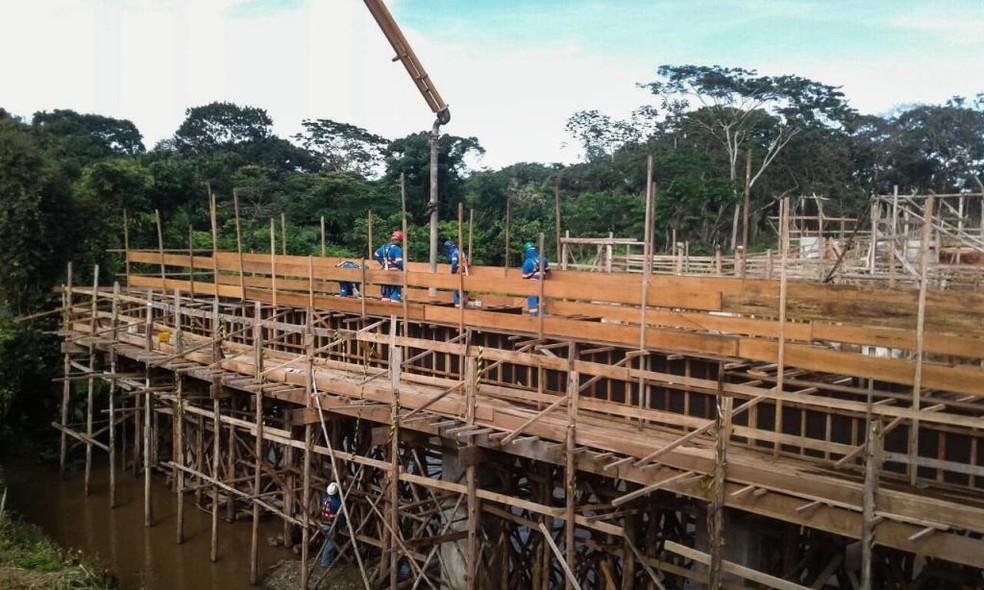 Obra foi iniciada em fevereiro de 2017 e deve ser entregue no final deste ano (Foto: Sinfra-MT/Divulgação)