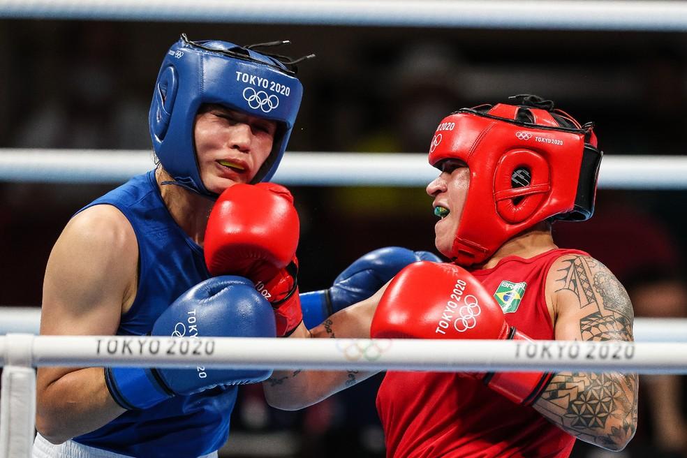 Bias Ferreira está nas semifinais do boxe nas Olimpíadas de Tóquio — Foto: Wander Roberto/COB