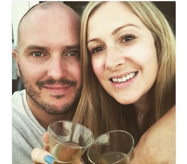O viúvo da apresentadora de TV Rachel Bland, Steve, em uma foto com a esposa (Foto: Instagram)