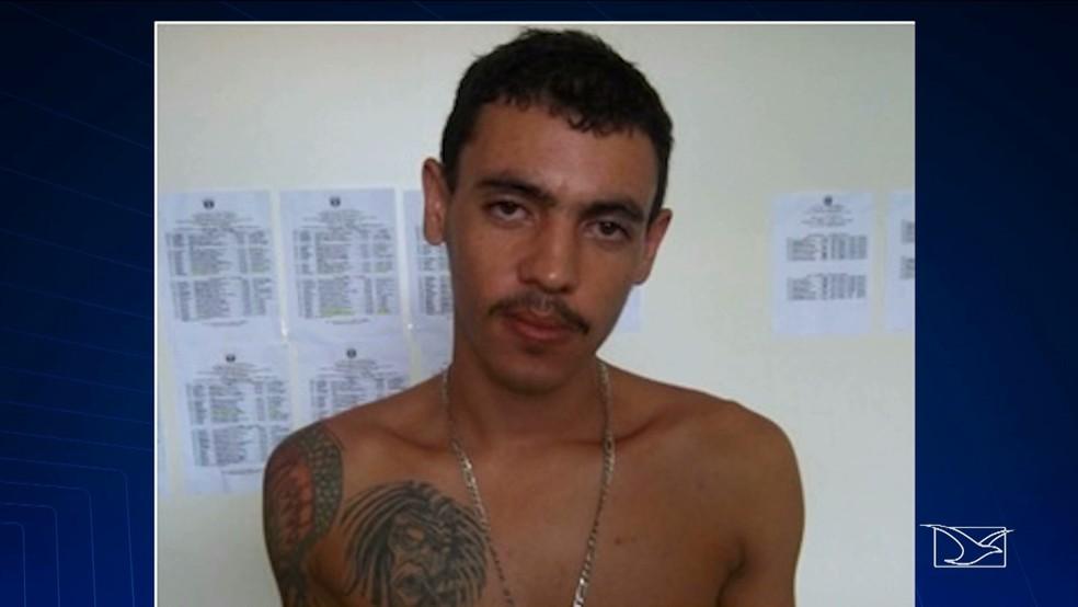 Fagner Cursino Azevedo em 2011, quando foi preso pela polícia de Pernambuco.  (Foto: Reprodução/TV Mirante)