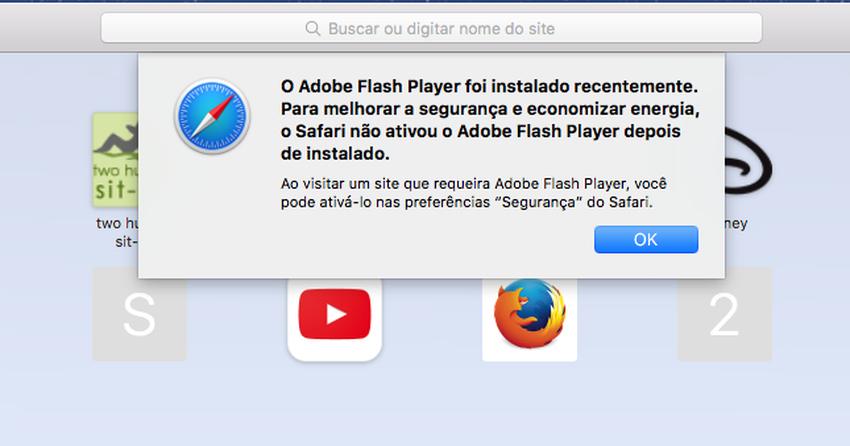 Como reabilitar o Adobe Flash Player no Safari 10