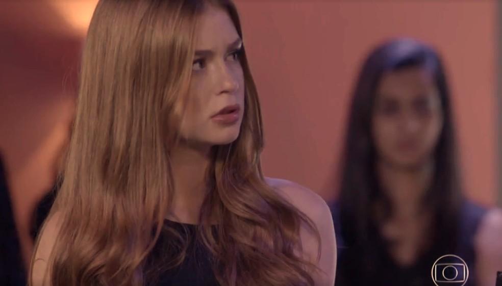 Eliza fica surpresa  — Foto: TV Globo