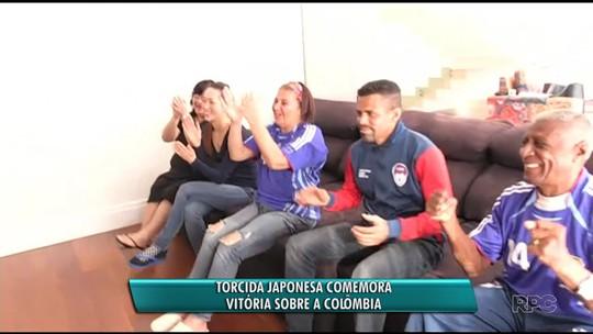 Torcida japonesa em Maringá vibra com vitória contra a Colômbia