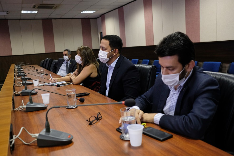 Reunião foi realizada nessa segunda-feira (23) — Foto: Mayke Toscano/Secom-MT