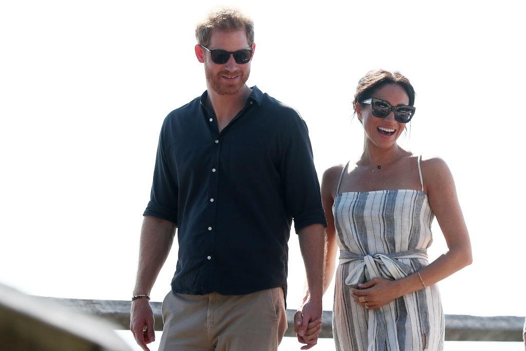 Príncipe Harry e Meghan Markle em viagem à Austrália (22 de outubro de 2018) (Foto: Getty Images)