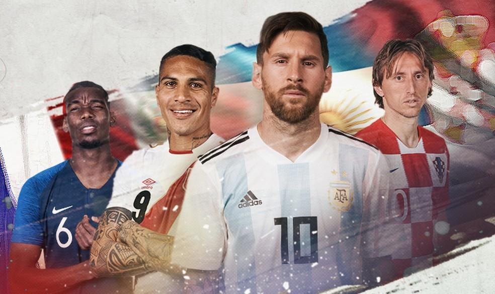Messi, Guerrero (Foto: Infoesporte)