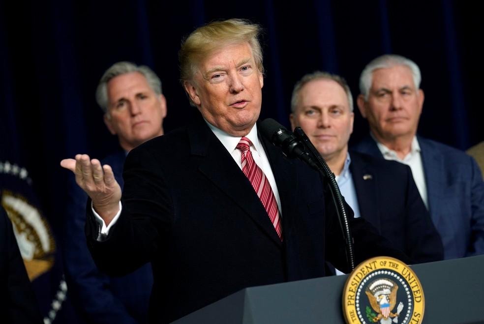 -  O presidente americano Donald Trump.  Foto: Yuri Gripas/Reuters