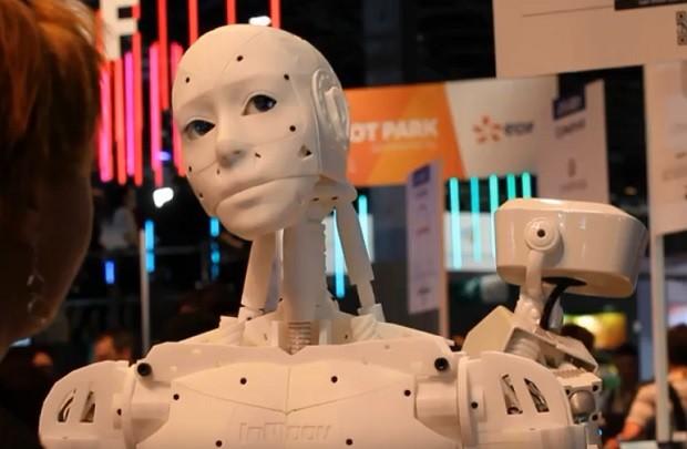 InMoov, robô apresentado na Viva Technology (Foto: Felipe Maia/Época NEGÓCIOS)