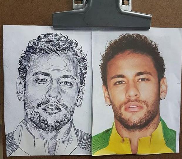 esboço da tatuagem de Neymar (Foto: Reprodução/Instagram)