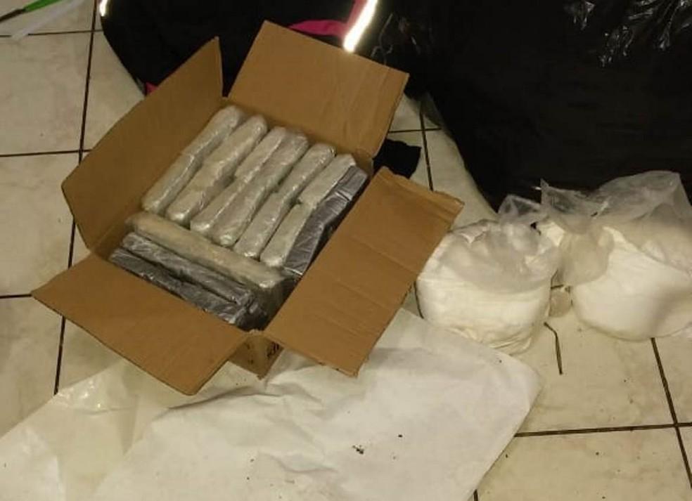 Droga foi apreendida em apartamento de São José  (Foto: Polícia Civil/Divulgação )