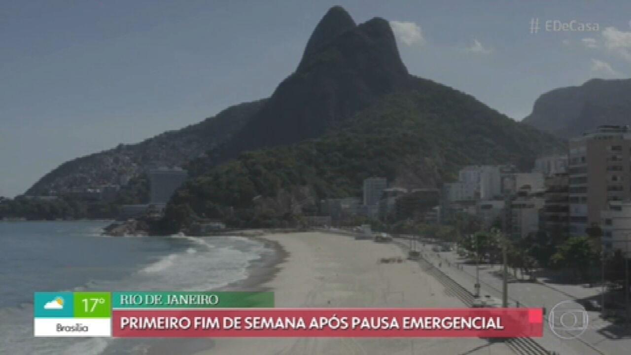 G1 em 1 Minuto: Após 'pausa emergencial', Rio tem o 1º fim de semana com mudanças em restrições e bares reabertos