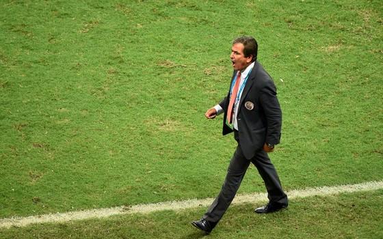 Jorge Luis Pinto, então técnico da Costa Rica na Copa do Mundo de 2014. Ele comandou uma campanha surpreendente (Foto: Getty Images)