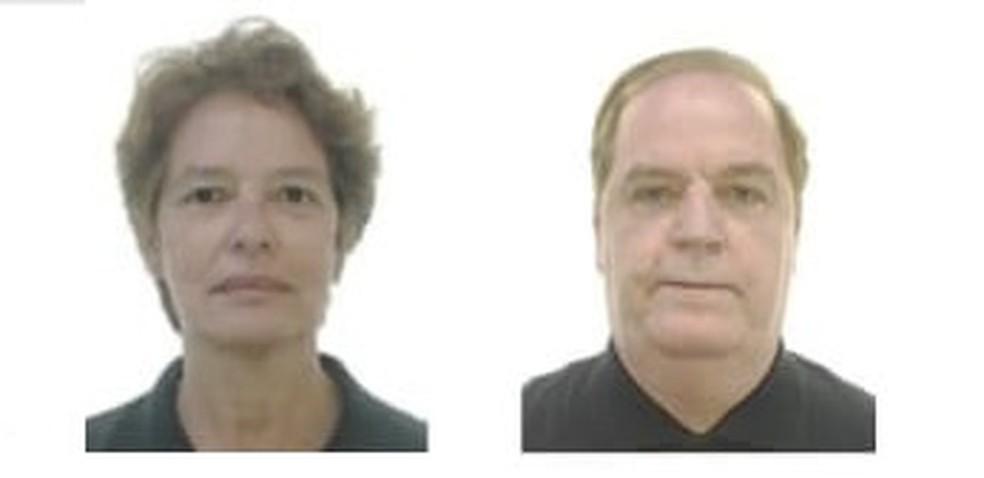 Médico urologista Paulo Oliveira Cesar e a esposa, Raquel Heringer Cesar foram encontrados mortos em apartamento em Vila Velha — Foto: Reprodução/TV Gazeta