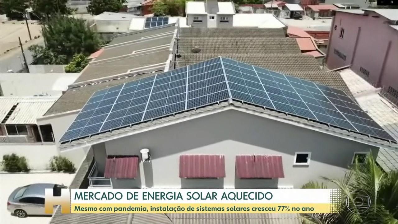 Mercado de energia solar cresce mais de 77% neste ano