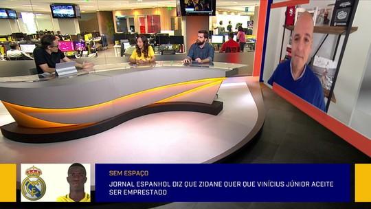 """Redação debate chance de Real Madrid emprestar Vinicius Junior: """"Não é demérito"""""""