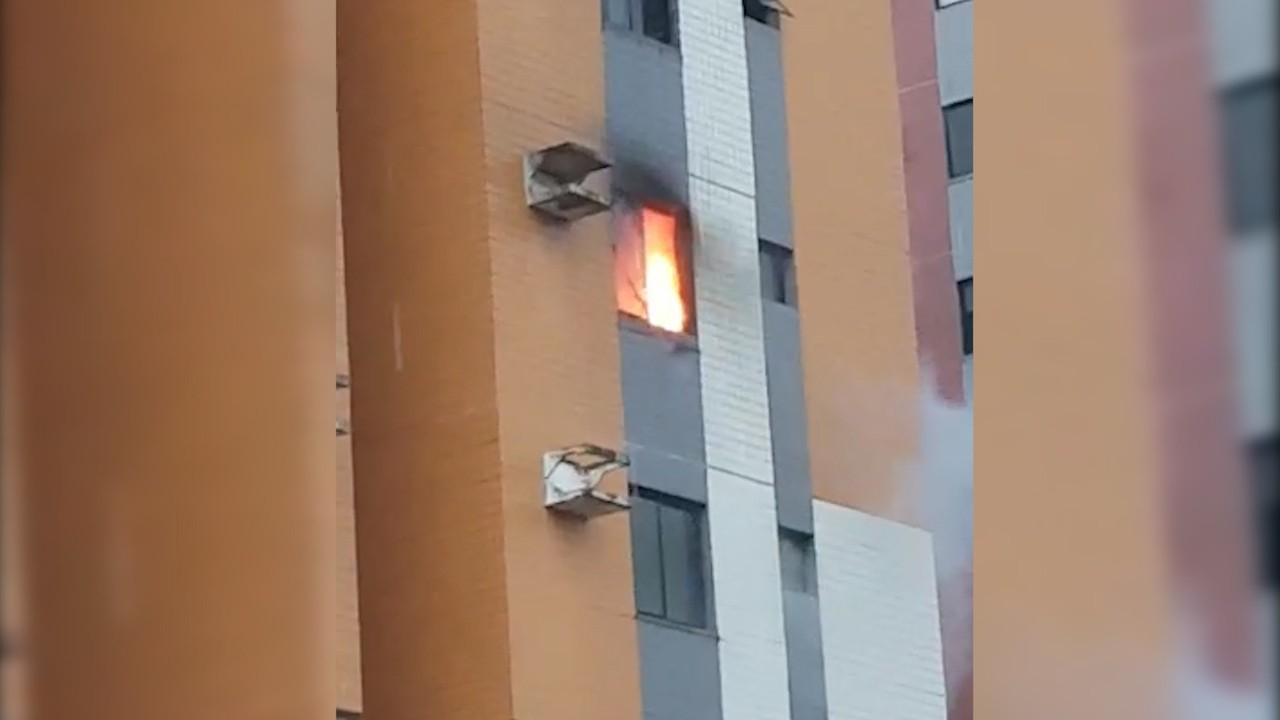 VÍDEO: Apartamento é destruído por incêndio no Grand Park, em São Luís