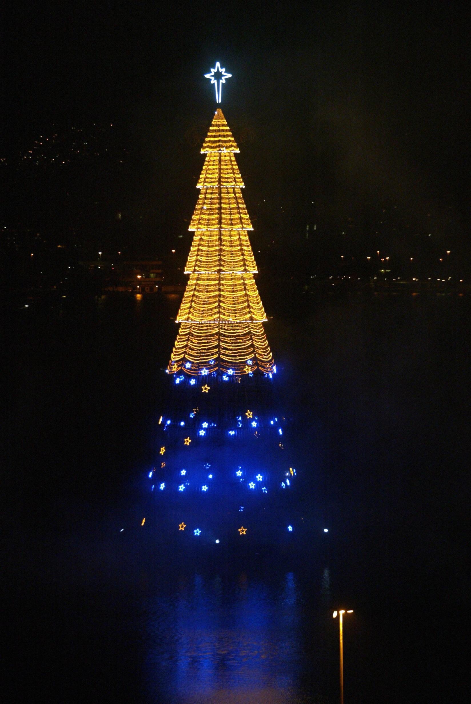 A Árvore de Natal da Lagoa, em 2008
