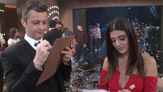 Giovanna Lancellotti e Lucas Lima disputam quiz sobre Sandy
