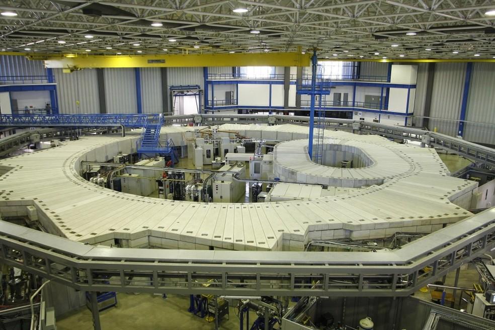 Acelerador de partículas do Laboratório Nacional de Luz Síncrotron, em Campinas — Foto: Divulgação/CNPEM