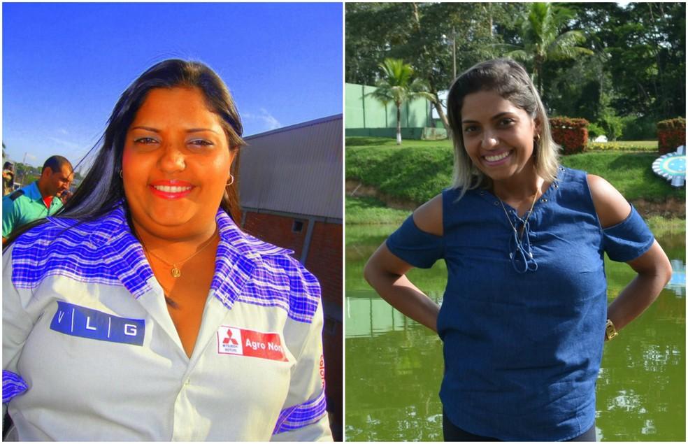 Com reeducação alimentar e exercícios, Jociane emagreceu mais de 30 quilos (Foto: Reprodução Facebook/Quésia Melo G1)