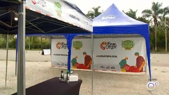 Drive-thru com arrecadação de alimentos nas regiões de Sorocaba e Jundiaí continua neste sábado