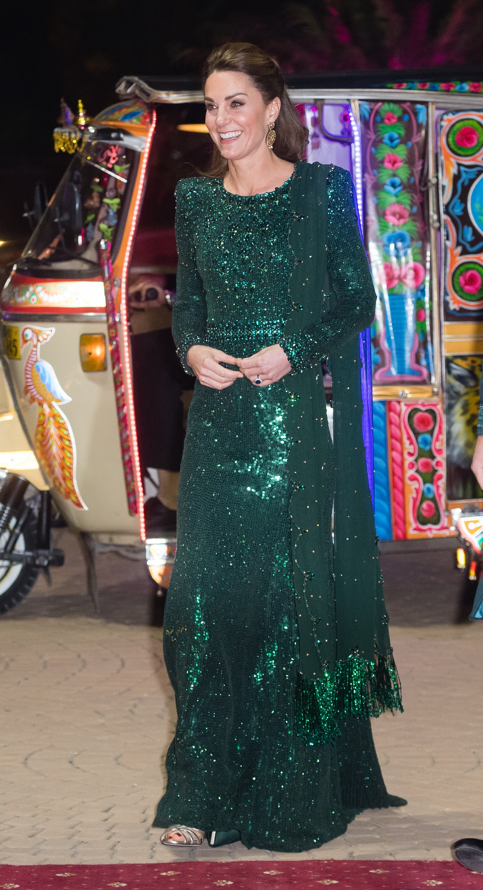 Kate Middleton verde noite (Foto: GettyImages)