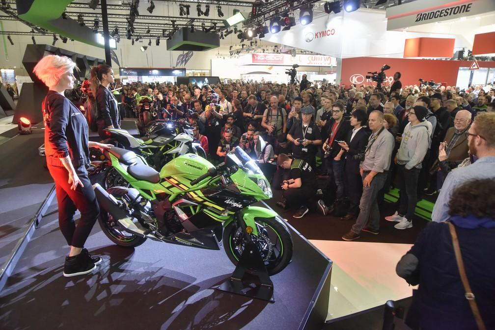 Kawasaki Ninja 125 o Salão de Colônia 2018 — Foto: Intermot/Divulgação