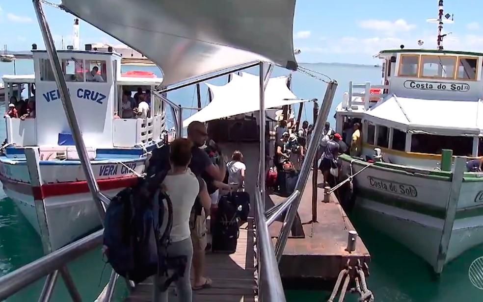 Travessia Salvador-Mar Grande vai encerrar mais cedo por causa de maré baixa (Foto: Reprodução/ TV Bahia)