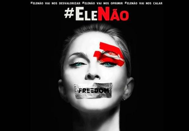 Madonna se manifestou contra o candidato Jair Bolsonaro (PSL) nas redes sociais (Foto: Reprodução/Instagram)