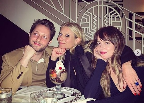 Gwyneth Paltrow, Dakota Johnson e Derek Blasberg (Foto: Instagram)