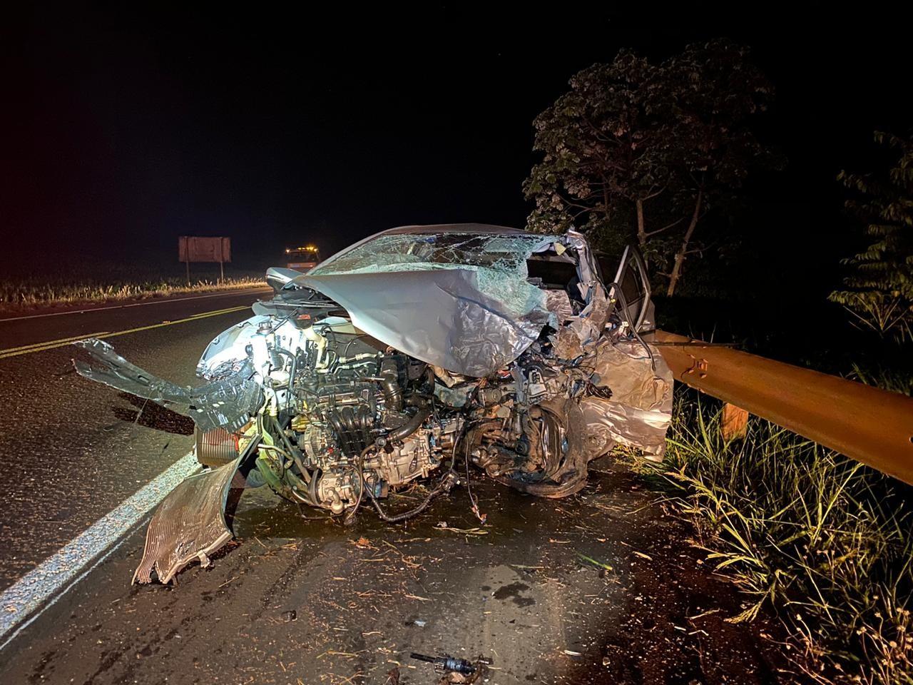 Homem morre em batida entre caminhonete e carro na BR-369, em Corbélia