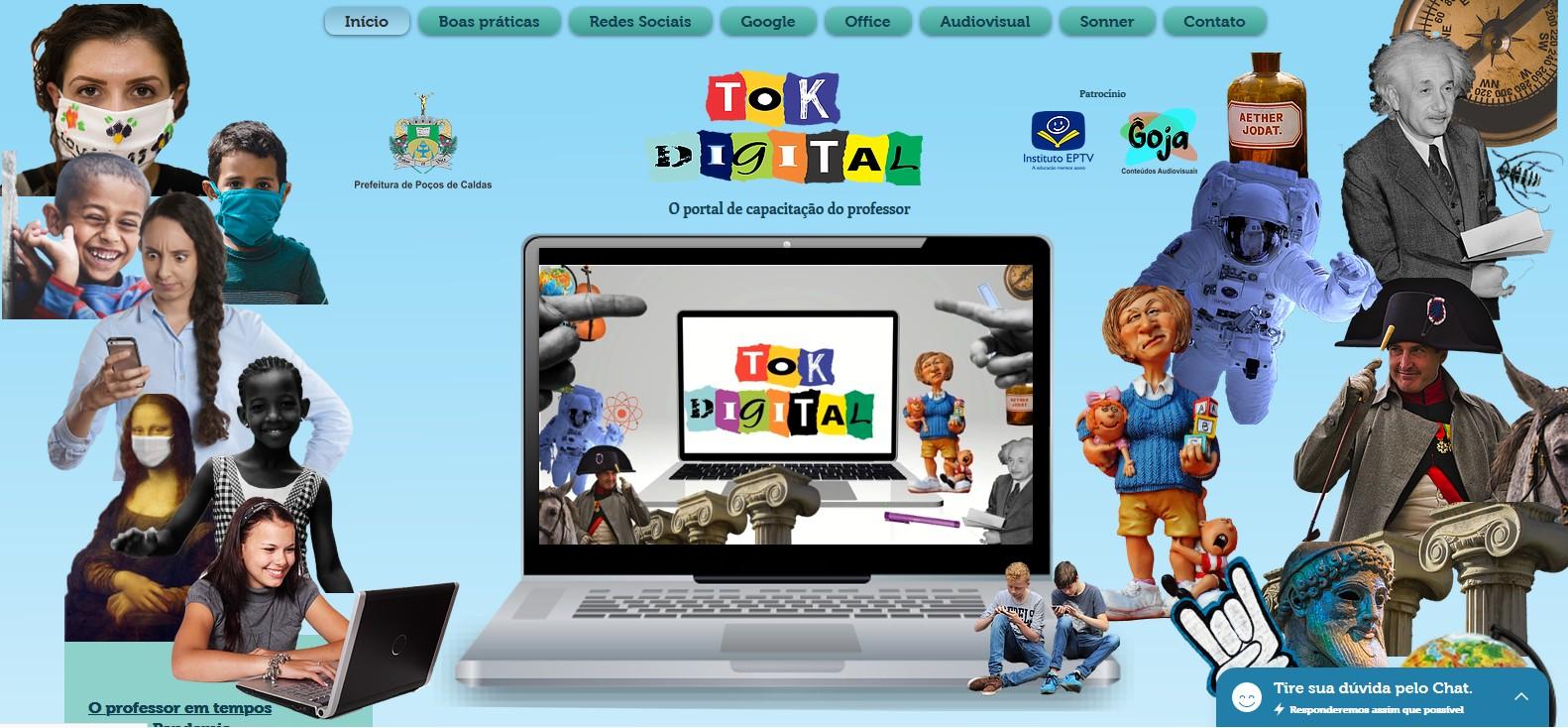 Plataforma digital é criada para auxiliar professores nas aulas remotas em Poços de Caldas, MG