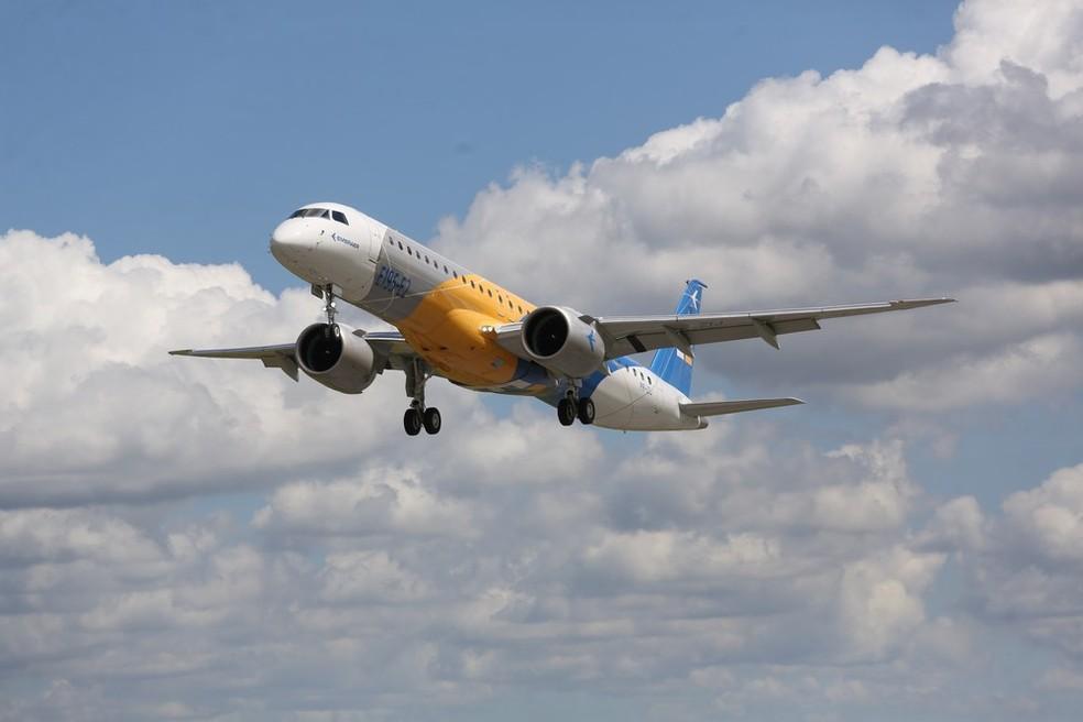 Brasileira Embraer negocia fusão com a Boeing (Foto: Divulgação / Embraer )