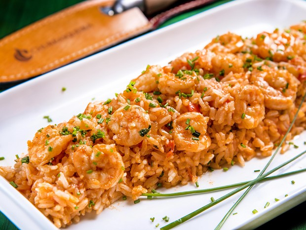 Receita de arroz de camarão