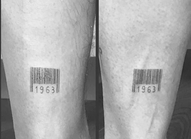 Junno Andrade e Xuxa fazem tatuagens iguais (Foto: Instagram/SBT/BrazilNews)