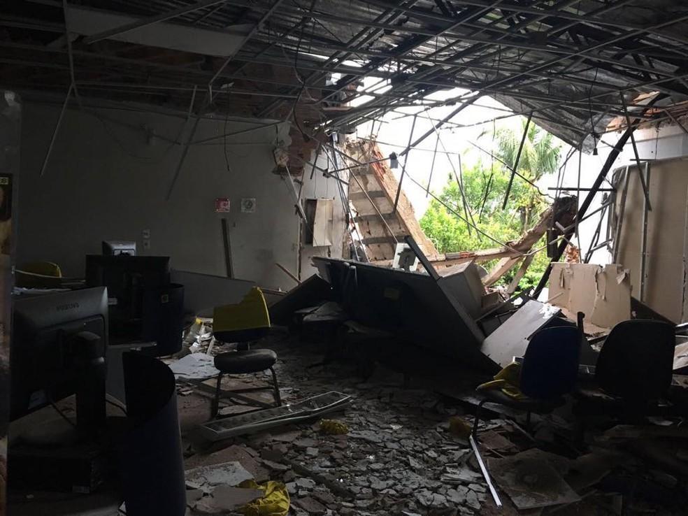 Agência bancária foi explodida em Arapoema (Foto: Divulgação)