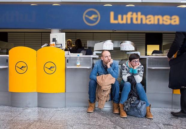 Uma das áreas da Lufthansa no Aeroporto de Frankfurt, o maior da Alemanha (Foto: Thomas Lohnes/Getty Images)
