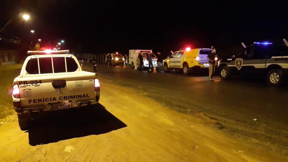 Acidente ocorreu entre Ponta Negra e Cidade Verde — Foto: Sérgio Henrique Santos/Inter TV Cabugi