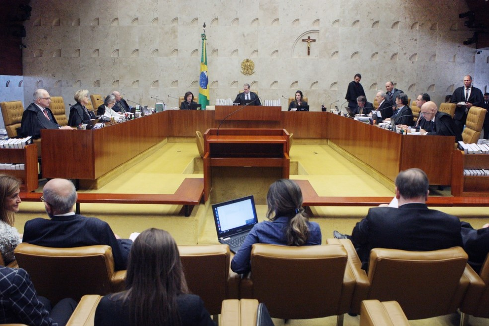Ministros do STF no plenário — Foto: Carlos MouraSTF