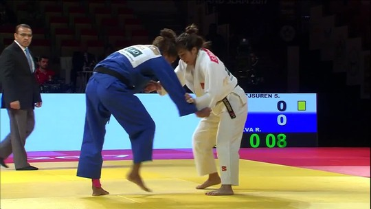 Em reedição da final olímpica, Rafaela leva o troco e fica com a prata em Abu Dhabi