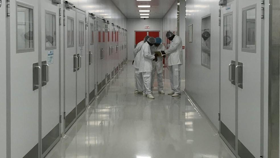 Interior da SMM, planejada para ser uma fábrica de antirretrovirais, mas que agora vai produzir outros tipos de remédio  (Foto: Amanda Rossi/BBC Brasil)
