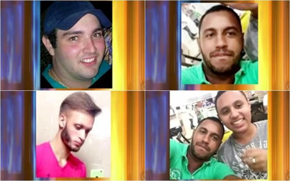 Vítimas voltavam de uma festa, quando foram atingidos por caminhonete — Foto: Reprodução/TV TEM