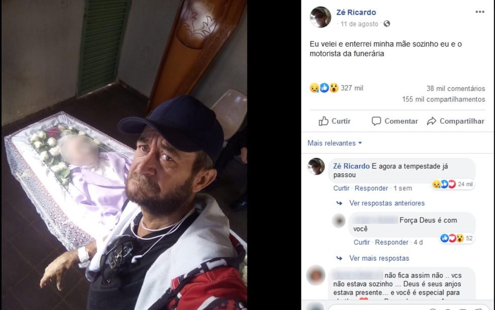 Filho Que Postou Foto Velando A Mãe Sozinho Se Surpreende