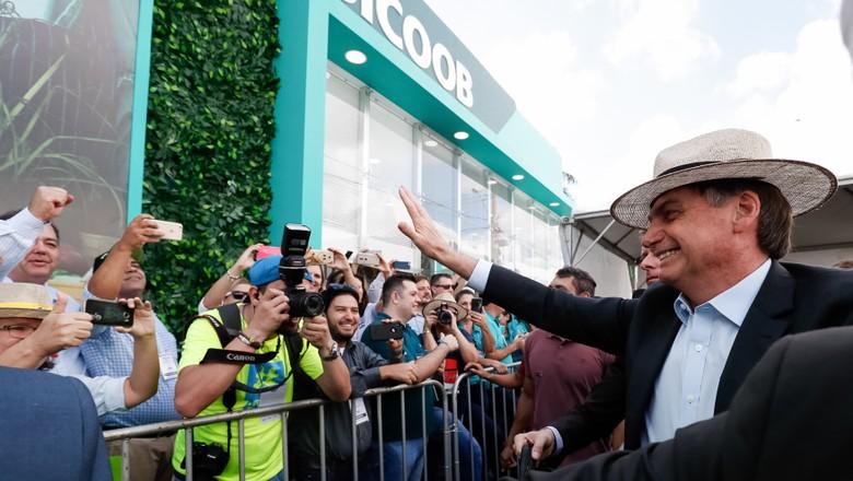 O presidente Jair Bolsonaro durante a abertura da Agrishow 2019  (Foto: Presidência da República)