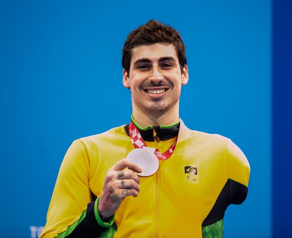 Talisson Glock é bronze na natação nas Paralimpíadas — Foto: Alê Cabral CPB