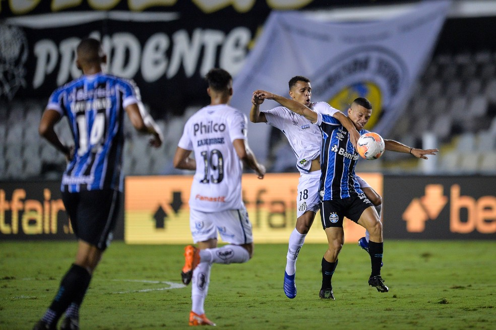 Santos teve imposição no mata-mata — Foto: Staff Images/Conmebol