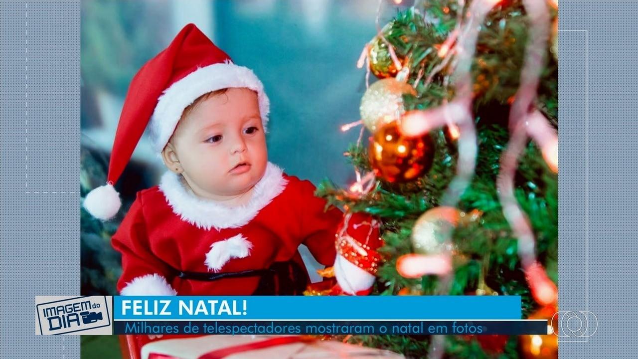 Telespectadores enviam fotos comemorando o Natal