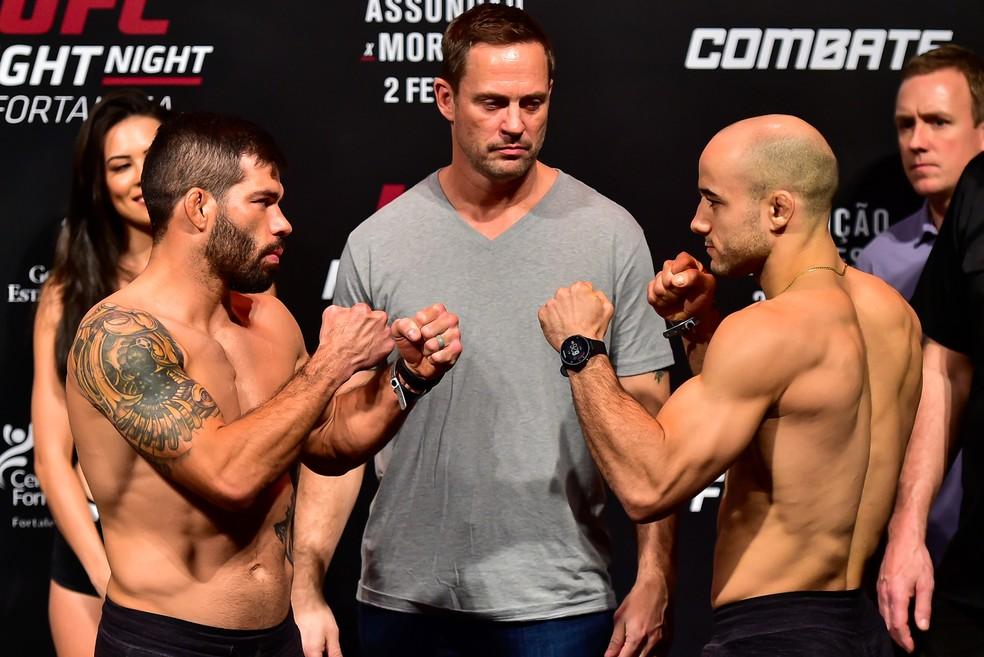 Raphael Assunção x Marlon Moraes: luta é a principal do UFC Fortaleza — Foto: Jason Silva