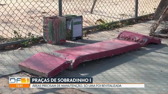 Moradores de Sobradinho reclamam da falta de manutenção nas praças